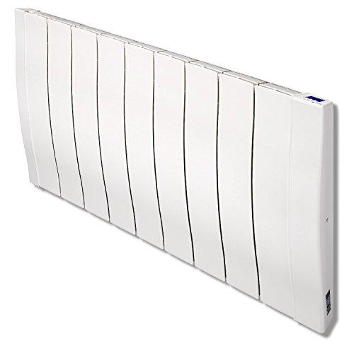HAVERLAND RC9W+   Emisor térmico de Alta inercia a fundición de Aluminio   1400 W   Programación vía App   Tecnología Bluetooth   Diseño Compacto   Uso Ideal 1-6h/día   +/- 16-24 m²   Blanco