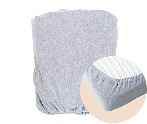 moKee Soft Seagrass Moses Basket Jersey Fitted Sheet, Melange Grey