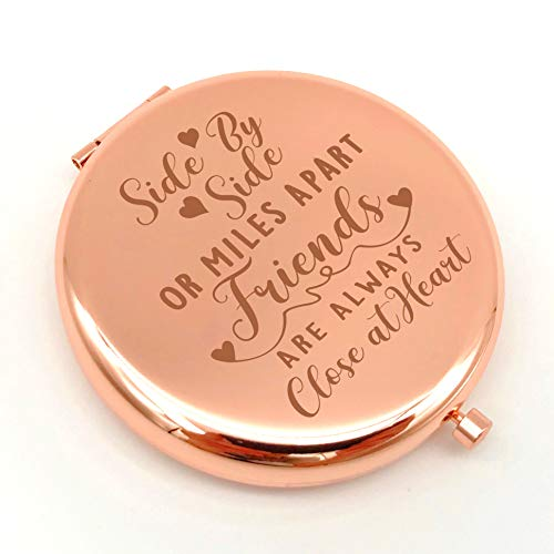 Warehouse No.9 Inspirational Friendship Gifts for Best Friend Travel Pocket Compact Makeup Mirror Gift for Sister Birthday Graduation Gifts
