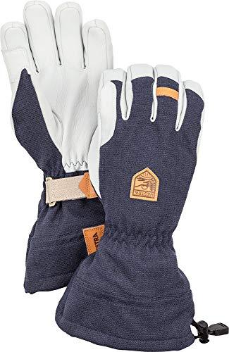 HESTRA M's Army Leather Patrol Gauntlet 5-Finger Handschuhe Navy Handschuhgröße 10 2019 Outdoor Handschuhe