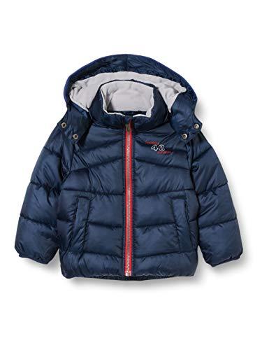 Sanetta Jungen Outdoor Jacke Nordic Blue Warme Winterjacke in Dunkelblau Kidswear in einem sportiven Look mit Abnehmbarer Kapuze, blau, 098