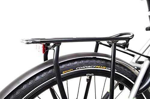 415PISYzmtL - 28 Zoll Fahrrad TechniBike E-Bike Pedelec Riemen N330 Nabenschaltung Conti Akku 70Nm Grau Grün Gr.L