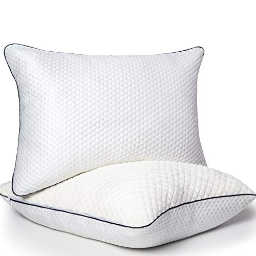 BedStory Pillows Pack of 2, Pillows 2 Pack Hypoallergenic Anti-Dust Pillow Down Alternative Quality Bed Pillows for Back Stomach and Side Sleepers Standard Size