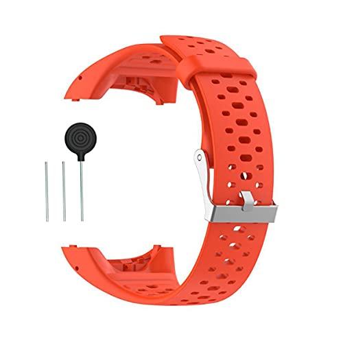 Kokymaker Reemplazo Correa Ajustable para Polar M400   M430 Reloj Pulsera de Repuesto Banda de Deportes Correa de Silicona (naranja)