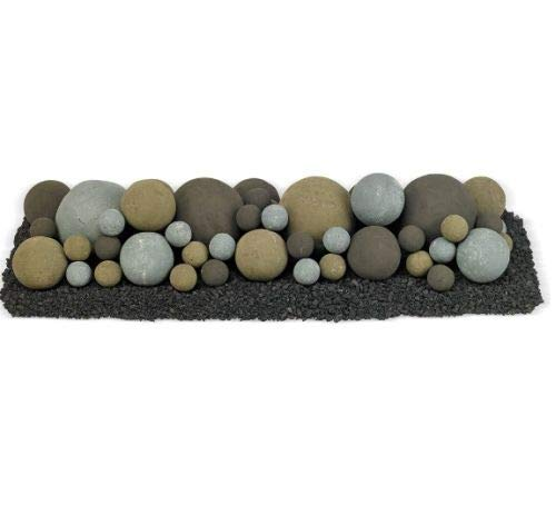 Buy Bargain American Fireglass 36 x 12 Natural Lite Stone Ball Set - Mixed