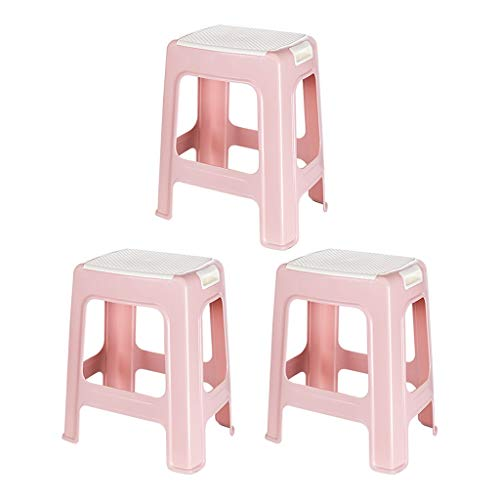Stoel Badkamer Kruk Huishouden Niet Squat Badkamer Kruk Antislip Badkamer Toilet Douche Kruk Badkamer Krukje Gemak (Color : Pink)