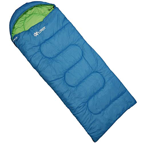 Explorer Unisex Jugend Active 300 Blu Sacco a pelo per bambini, Blu, ca. 175 x 70 cm