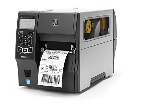 Zebra ZT41043-T010000Z ZT410 Industrial Thermal Transfer Table Top Printer, 300 DPI, Monochrome, With 10/100 Ethernet, Bluetooth 2.1, USB Host