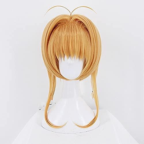 Peluca altamente restaurada de la tarjeta Captor Sakura Kinomoto peluca Cosplay linda peluca de pelo Halloween anime Lolita+gorra de peluca libre vale la pena comprar por los entusiastas