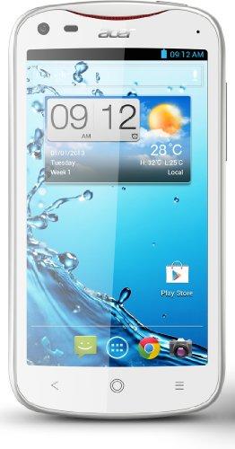 Acer Liquid E2 Duo Smartphone, Display 4,5 pollici, Dual SIM, 1,2GHz Quadcore, 1GB RAM, Fotocamer 8 MP, Android 4.2, Bianco [Germania]