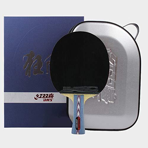 WFENG Raqueta de Ping Pong de Rendimiento Completo, Fuerte Poder Explosivo, Buen Manejo, Ataque y Defensa, Bate de Tenis de Mesa, Paleta/Como se muestra/mango largo