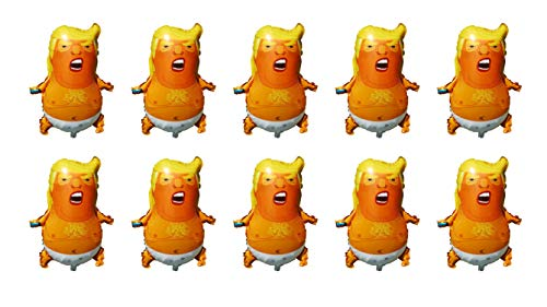SummitLink Pack of 10 Trump Cartoon Style Balloons PE Helium Foil Balloon Mylar (27