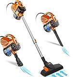 INSE Escoba eléctrica con cable, aspiradora con cable, I5 (carrot)
