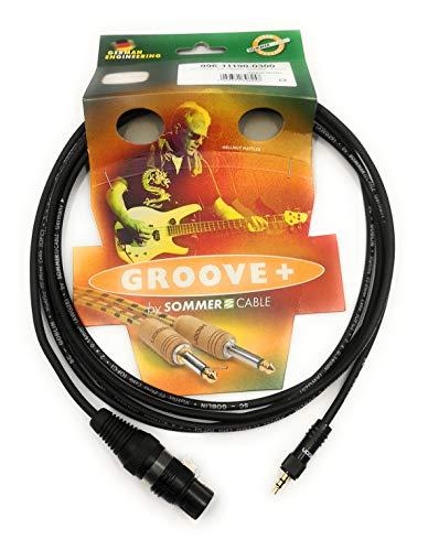 Mikrofonkabel 1,5m Adapter Miniklinke 3,5mm auf XLR weiblich Audioadapter für DSLR/DSLM Kameras vergoldete Kontakte | SC-AK600-MF-0150