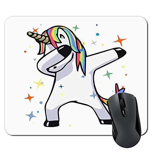 Einhorn-Mauspad, Mauspad, individuelles Design, Gaming-Mauspad, Gummi, längliches Mauspad (Tabbing Unicorn)