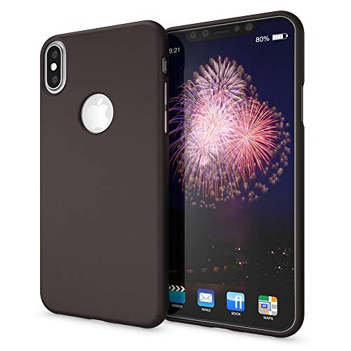 NALIA Cover Neon compatibile con iPhone X XS, Custodia Protezione Ultra-Slim Neon Case Protettiva Morbido Cellulare in Silicone Gel, Gomma Telefono Smartphone Bumper Sottile, Colore:Nero