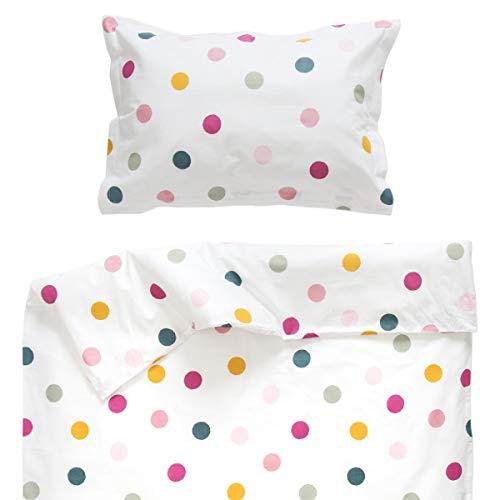 Joy - Pati'Chou 100% Coton Parure Linge de lit pour bébé (Taie d'oreiller et Housse de couette 100x140 cm)