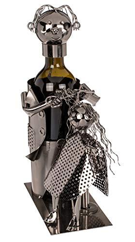 ootb 71/3182 Supporto per Bottiglia Metallica da Parrucchiere. Dimensioni: 23 x 21 cm. in Metallo, Acciaio
