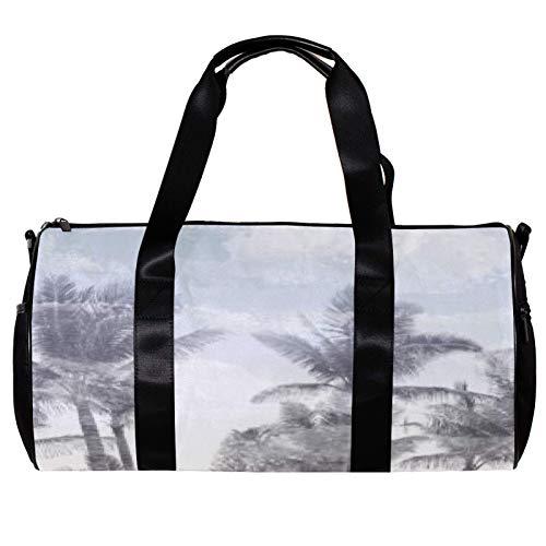 Anmarco Bolsa de viaje para mujeres y hombres con forma de árbol girando sombra de deportes, gimnasio, bolsa de fin de semana durante la noche, bolsa de viaje al aire libre