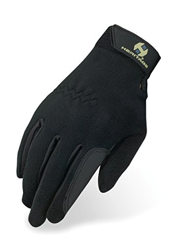 Heritage Performance Fleece Gloves, Size 6, Black