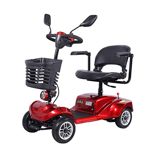 Elektrische step met 4 wielen voor volwassenen, breedte zitting 45 cm, 8 km/h, draagkracht 120 kg
