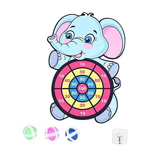 Hellery Diana Bola Adhesiva Tablero de Dardos Actividad Familiar Creativa al Aire Libre Juego Educativo navideño - Elefante
