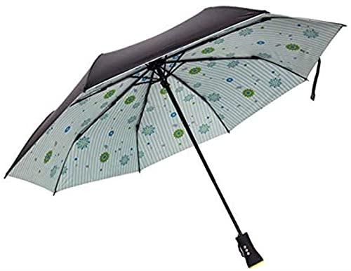 Paraguas Multifunción Bluetooth Música Creativa Inalámbrica Reproducir Música Audio Negro Plástico Protector Solar Paraguas Plegable de Tres Pliegues