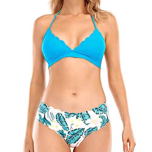 CMTOP Costumi da Bagno Donna della Push Up Costumi da Mare Due Pezzi Regolabile Bikini Spiaggia Beachwear Swimwear del Beachwear dello Stampa 2 Pezzi Swimsuit Costume