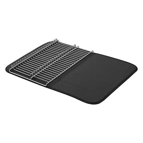 AmazonBasics - Estantería de secado grande, 48 x 61 cm, color negro/níquel, con 2 esterillas