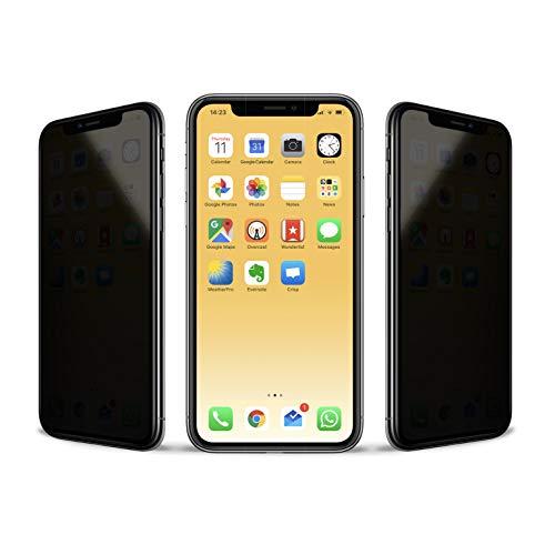 VistaProtect - Filtro de Privacidad Premium, Protector de Pantalla de Vidrio, Película Protectora para Apple iPhone 11 Pro/X/Xs