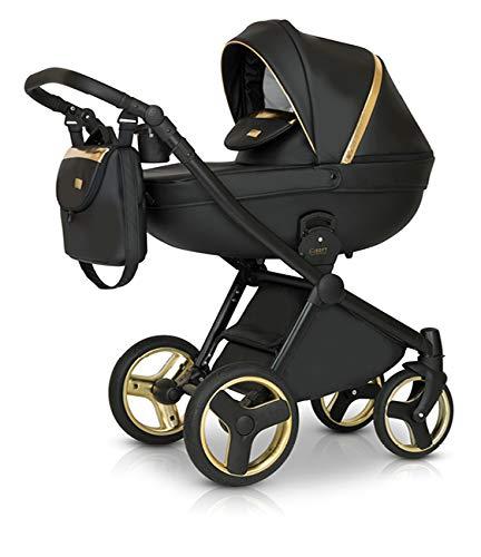 Krausman Kinderwagen 3 in 1 Prime Mirage Gold Kombikinderwagen Babyschale Babywanne Sportwagen Design Made In Germany