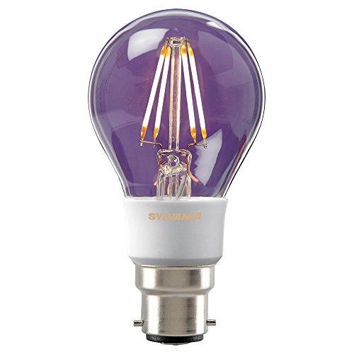 Sylvania Toledo 0027109 Rétro A60 dimmable LED Lampe, 560 Lm Flux lumineux, B22/Base, en verre transparent, finition, Bougie, 822, E27, 5.5 W