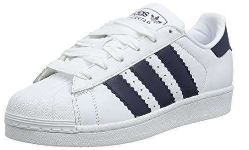 adidas Superstar, Zapatillas de Gimnasia para Hombre, Rojo (Collegiate Burgundy/FTWR White/Ash Grey S18 Collegiate Burgundy/FTWR White/Ash Grey S18), 46 2/3 EU