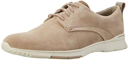 Clarks Herren Tynamo Walk Sneakers, Beige (Sand Suede), 41.5 EU