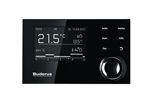 Buderus System-Bedieneinheit RC310 in schwarz mit Außenfühler