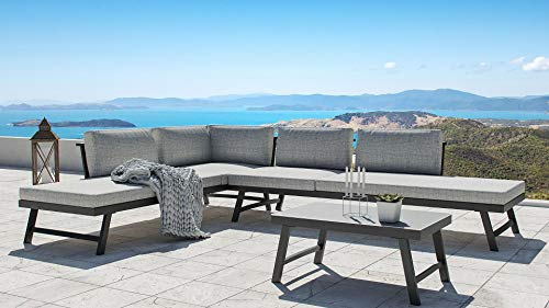 ARTELIA Morino Loungemöbel Set 5 Personen - Modulares Premium Gartenmöbel Set für Terrasse, Garten und Wintergarten…