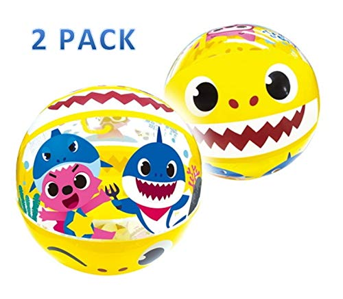 """Lemmings company Beach Ball Baby Shark Inflatable Beach Balls 15.6"""" Pool Toys Summer Party Favors (2 Pack)"""