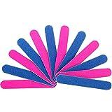 100 Piezas Azul y Rosa limas de uñas Desechables de Doble Cara Herramientas de Manicura