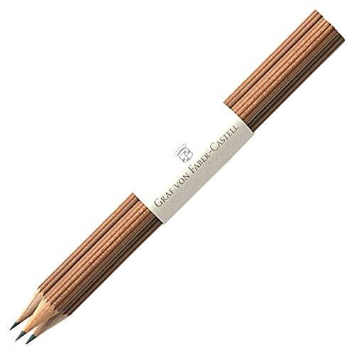 Graf von Faber-Castell Bleistifte Nr III Bezeichnung der Härte, B Stift mit Tauchkappe, braun