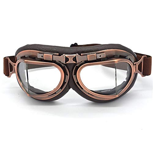Best Bargain XIONGHAIZI Gafas de Moto gafas de piloto de motocicleta Steampunk Vintage ATV Biker Sco...