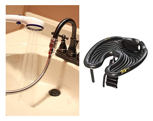 SmarterFresh Quick Connect Sink Faucet Sprayer Set - Metal Detachable Faucet Sink Hose Attachment With Handshower for Rinsing, Hair Washing and Pet Cleaning (Quick Connect Sprayer with Mobile Salon)