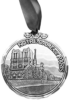 Wendell August Notre-Dame de Paris Benefit Ornament - Beautiful Aluminum Hand Carved Classic Cathedral Ornament - Made in USA – All Proceeds Benefit Notre Dame Cathedral Rebuild Effort, 3.125
