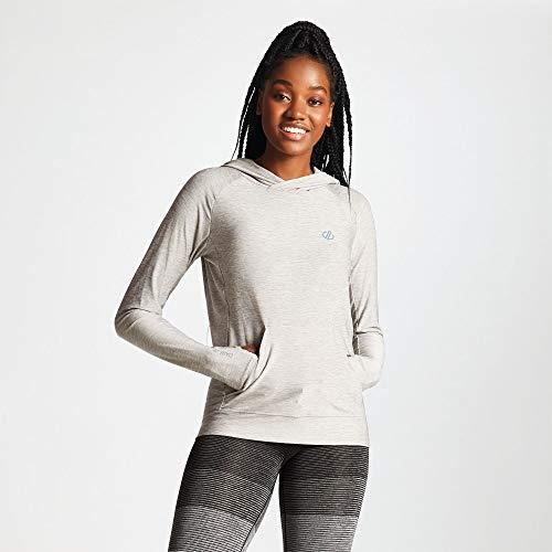 Dare 2b Sprint Cty Hoodie, Sweat de sport à capuche Femme SPRINT CITY Sprint Cty Hoodie Femme, Ash, 40 (Taille fabricant: 38)