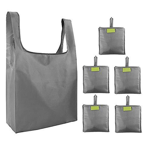 Aiboria Borsa Spesa Portatile,5 pezzi Shopping Bag Borsa per la Spesa Riutilizzabili Borsa in Tessuto Borsa shopper Borsa Shopping per la spesa,verdura e mercato Carico massimo 20 kg 63,5*38,5*15,5cm