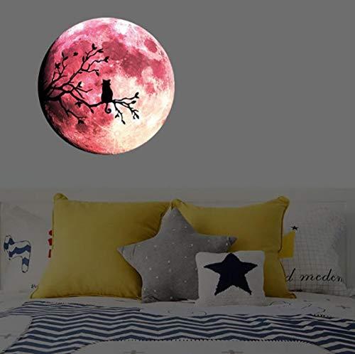 Luminous Moon Branches Fluorescent Stickers Leuchtende Aufkleber Dekorative Aufkleber
