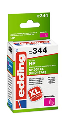 edding Tintenpatrone EDD-344 ersetzt HP 951XL (CN047AE) - Magenta - 30ml