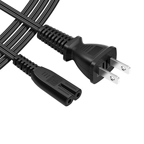 POWSEED AC電源ケーブル メガネ型コネクター・プラグ ACコンセント 電源コード 2ピンプラグ(オス)⇔2ピンソケット(メス) 125V/7.5A 約2m ストレートタイプ ノートパソコンアダプター
