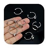who-care - Anillo ajustable de acero inoxidable para montaje en blanco, 10 unidades, diámetro 4/6/8/10/12 mm, para decoración de camafones, bandeja de bricolaje para hacer joyas, 6 mm