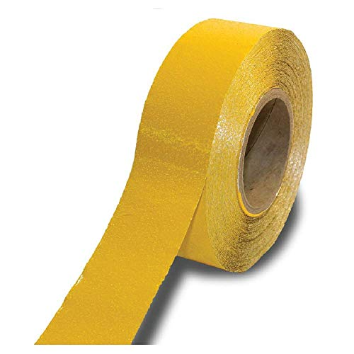ifloortape Yellow Reflective Foil Outdoor Pavement Marking Tape | Conforms to Rough or Smooth Asphalt and Concrete Surfaces (2 Inches x 150 Feet per Roll)