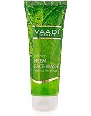 Vaadi Herbals Anti-Acne Neem Face Wash with Tea Tree Extract, 60 ml